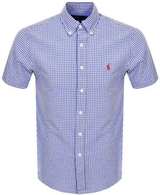 Ralph Lauren Custom Fit Short Sleeve Shirt Navy