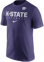 Nike Men's Kansas State Wildcats Cotton Practice T-Shirt