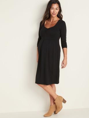 Old Navy Maternity Fit & Flare Ponte-Knit Dress