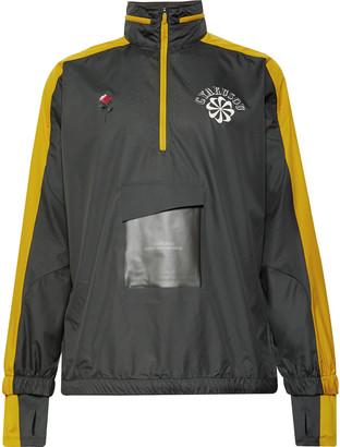 NRG + Gyakusou Logo-Print Shell Half-Zip Hooded Jacket