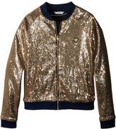 Little Marc Jacobs Crepe Teddy All Over Sequin Girl's Coat