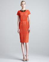 Lela Rose Jigsaw Lace Dress with Slip