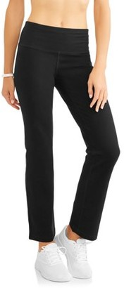 Athletic Works Women's Athleisure Performance Straight Leg Pant Available in Regular and Petite