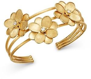 Marco Bicego 18K Yellow Gold Petali Diamond Cuff Bracelet