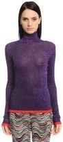 Missoni Turtleneck Lamé Rib Knit Sweater
