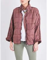 Free People Ladies Terracotta Exposed Zip Dolman Quilted Jacket