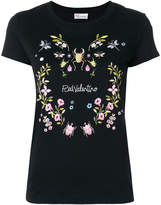 RED Valentino insects & flower print T-shirt