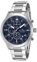 Lucien Piccard 13347-33 Men's Vertex Chronograph Stainless Steel Navy Blue