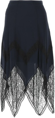 See by Chloe Lace Detail Skirt