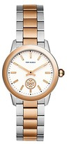 Tory Burch Collins Watch, Two-Tone Rose Gold/Stainless Steel Ivory, 32 Mm