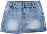 Blue Stone Wash Denim Miniskirt