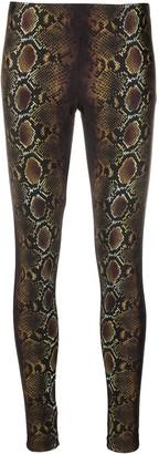 Versace Snakeskin-Print Pull-On Leggings