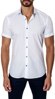 Jared Lang Short Sleeve Woven Semi-Fitted Shirt