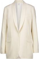 Helmut Lang Silk-piqué blazer