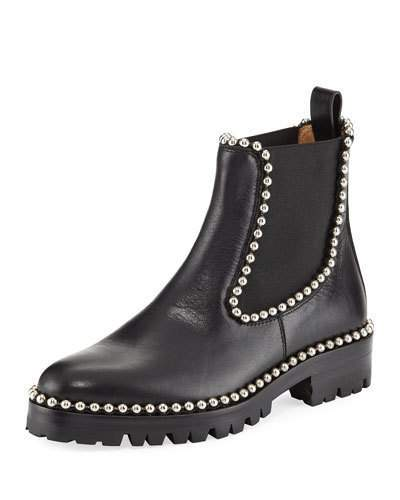 Alexander Wang Spencer Studded Chelsea Boot, Black