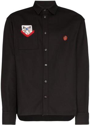 Boramy Viguier Card Patch Button-Down Shirt