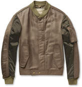 Balenciaga - Panelled Bomber Jacket With Detachable Quilted Lining