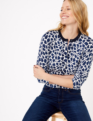 Marks and Spencer Printed Crew Neck Cardigan