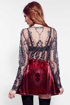 For Love & Lemons Florence Skirt in Ruby