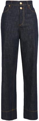 Brunello Cucinelli Faded High-rise Straight-leg Jeans