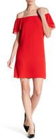 Betsey Johnson Off-The-Shoulder Ruffled Sleeve Dress