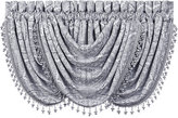 """J Queen New York Colette Silver 33"""" x 49"""" Waterfall Window Valance"""