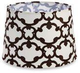 Bed Bath & Beyond Mix & Match Medium 13-Inch Embroidered Linen Hardback Lamp Shade in Brown
