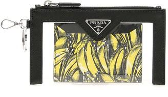 Prada Banana Printed Keychain Cardholder