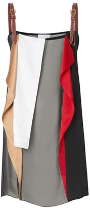 Burberry Ruffle Sheer Silk Layering Top