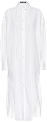 Dolce & Gabbana Cotton poplin midi shirt dress