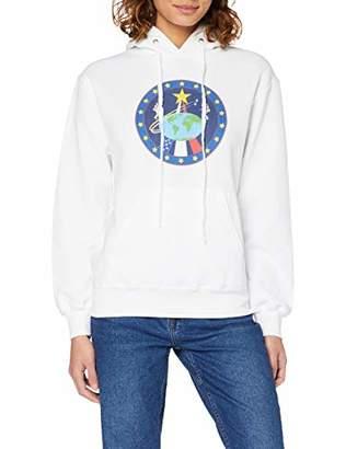 Brands In Limited Women's NASA Globe Astronauts Hoodie,10 (Size:M)