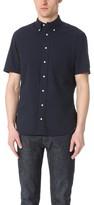 Gitman Brothers Short Sleeve Navy Over Dye Seersucker Shirt