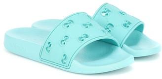 Gucci Kids GG rubber slides