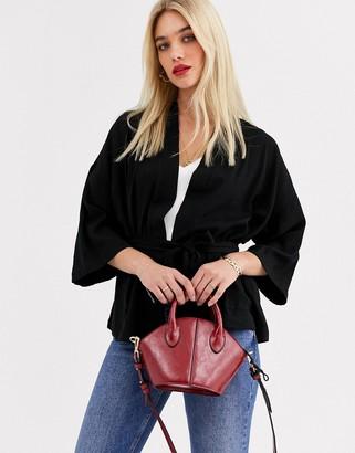 Vero Moda kimono blazer-Black