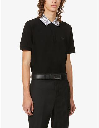 Fendi Floral print-hem cotton polo shirt