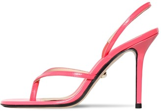 ALEVÌ Milano 90mm Patent Leather Thong Sandals