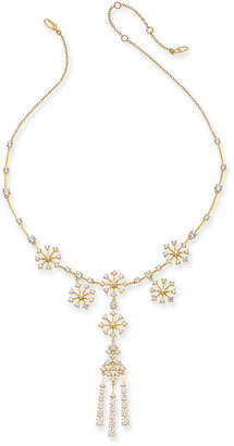 "Eliot Danori 18k Gold-Plated Cubic Zirconia Statement Necklace, 15"" + 1-1/2"" extender"