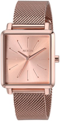 Nixon Women's K Squared Milanese Japanese-Quartz Watch with Stainless-Steel Strap Black 19 (Model: A1206897)