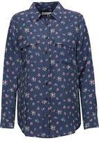 Equipment Femme Slim Signature Floral-Print Washed-Silk Shirt