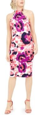 Trina Turk Trina Emotion Printed Halter Sheath Dress