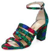 Jerome C. Rousseau Abelline Embroidered Strappy Sandal