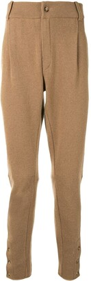 Dolce & Gabbana Pleat-Detailing Wool Trousers