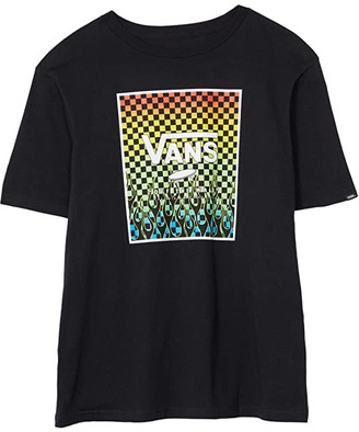 Vans Kids Print Box Tee (Big Kids) (Black/Gradient Checkerboard) Boy's T Shirt