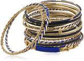 Amrita Singh Venus Blue Set Bangle Bracelet