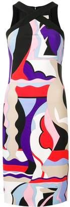 Emilio Pucci Cross Front Vallauris Print Dress
