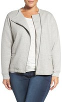 Sejour Quilted Moto Jacket (Plus Size)
