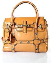 Luella Orange Patent Leather Gisele Satchel Handbag