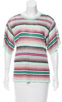 Missoni Striped Short Sleeve Top