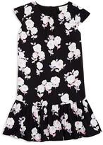 Kate Spade Girls' Floral Print Flounce Dress - Big Kid