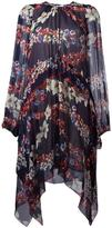 MSGM floral pattern pointy dress - women - Silk/Polyester - 40
